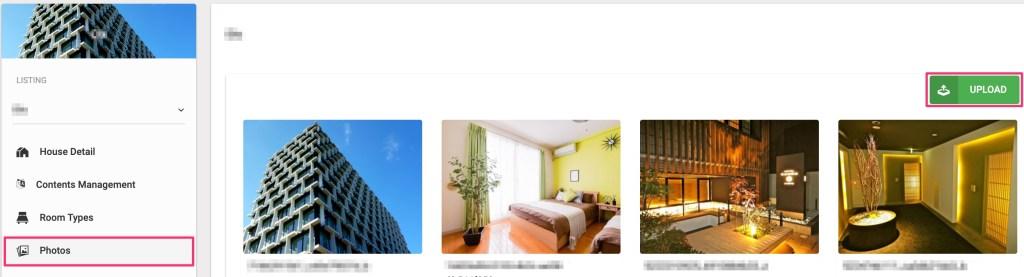 Upload property's photos.