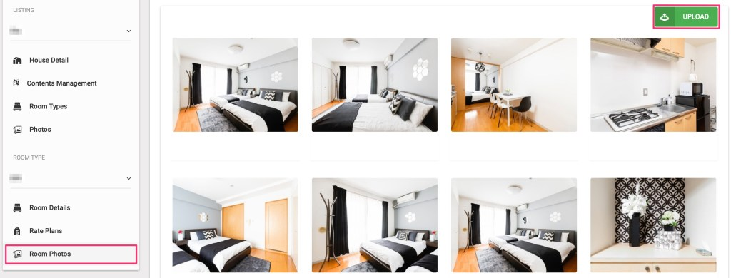 Upload room photos.